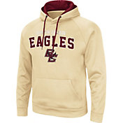 Colosseum Men's Boston College Eagles Gold Pullover Hoodie