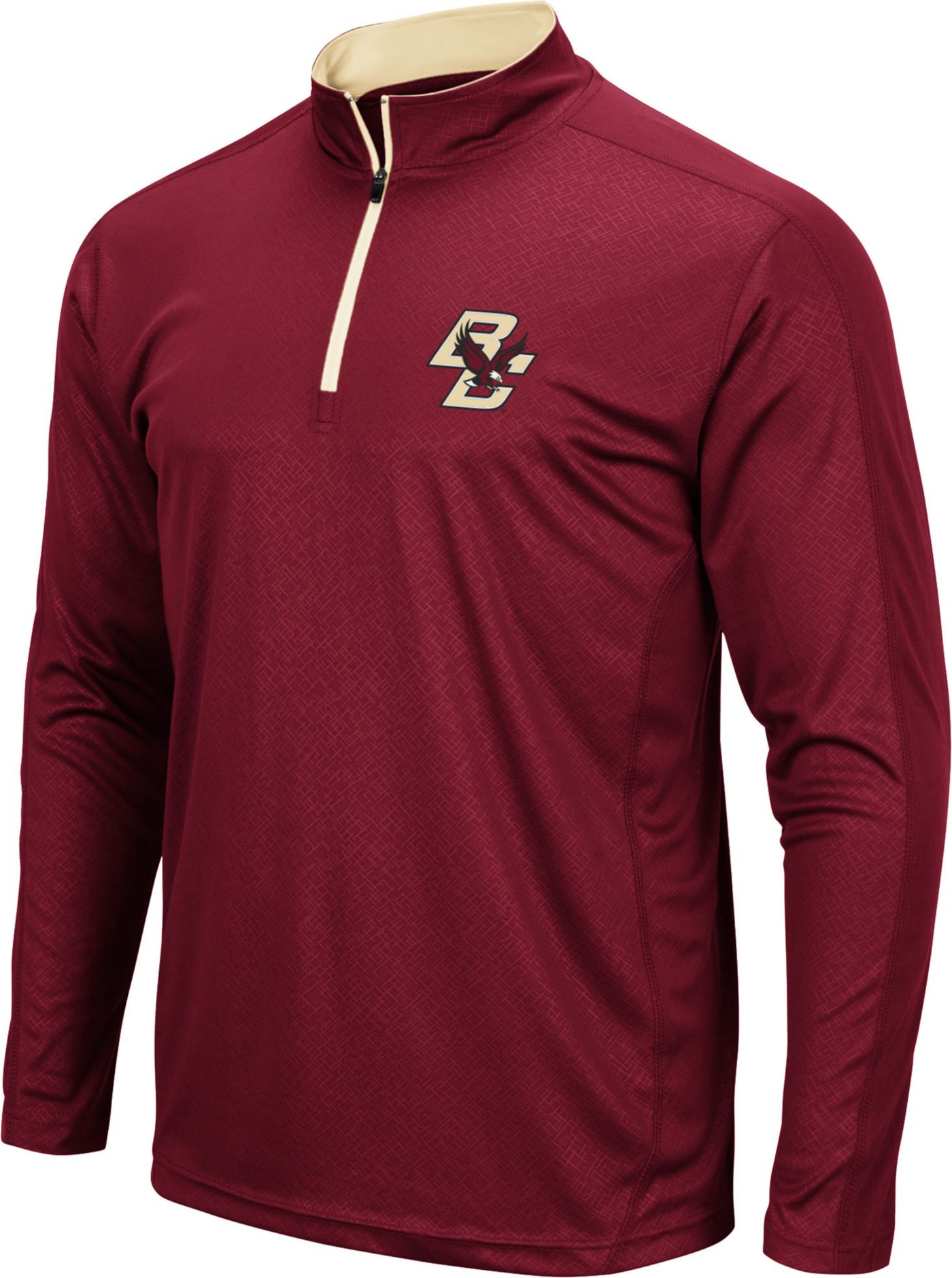 Colosseum Men's Boston College Eagles Maroon Loggerhead Quarter-Zip Shirt