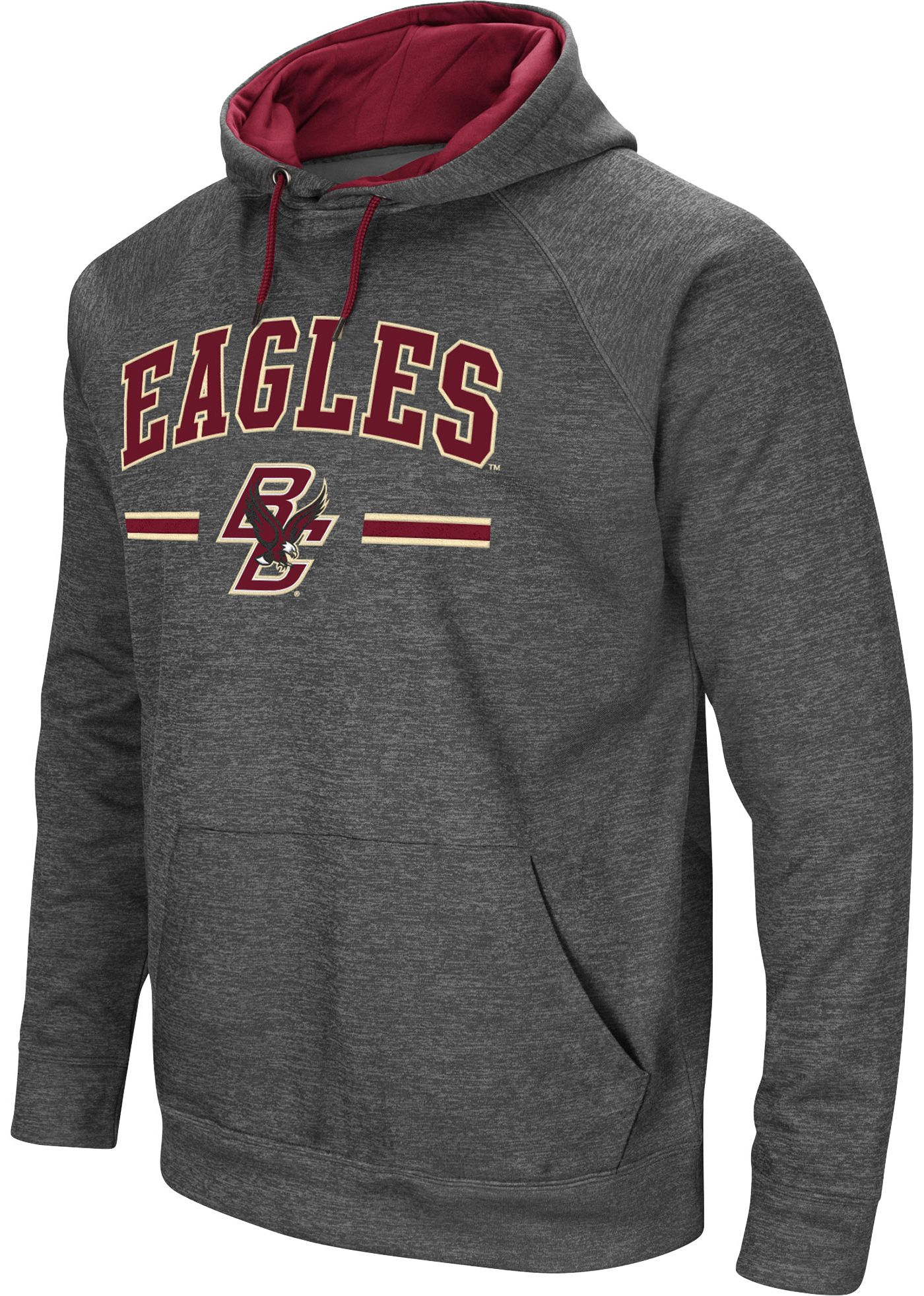 Colosseum Men's Boston College Eagles Grey Pullover Hoodie