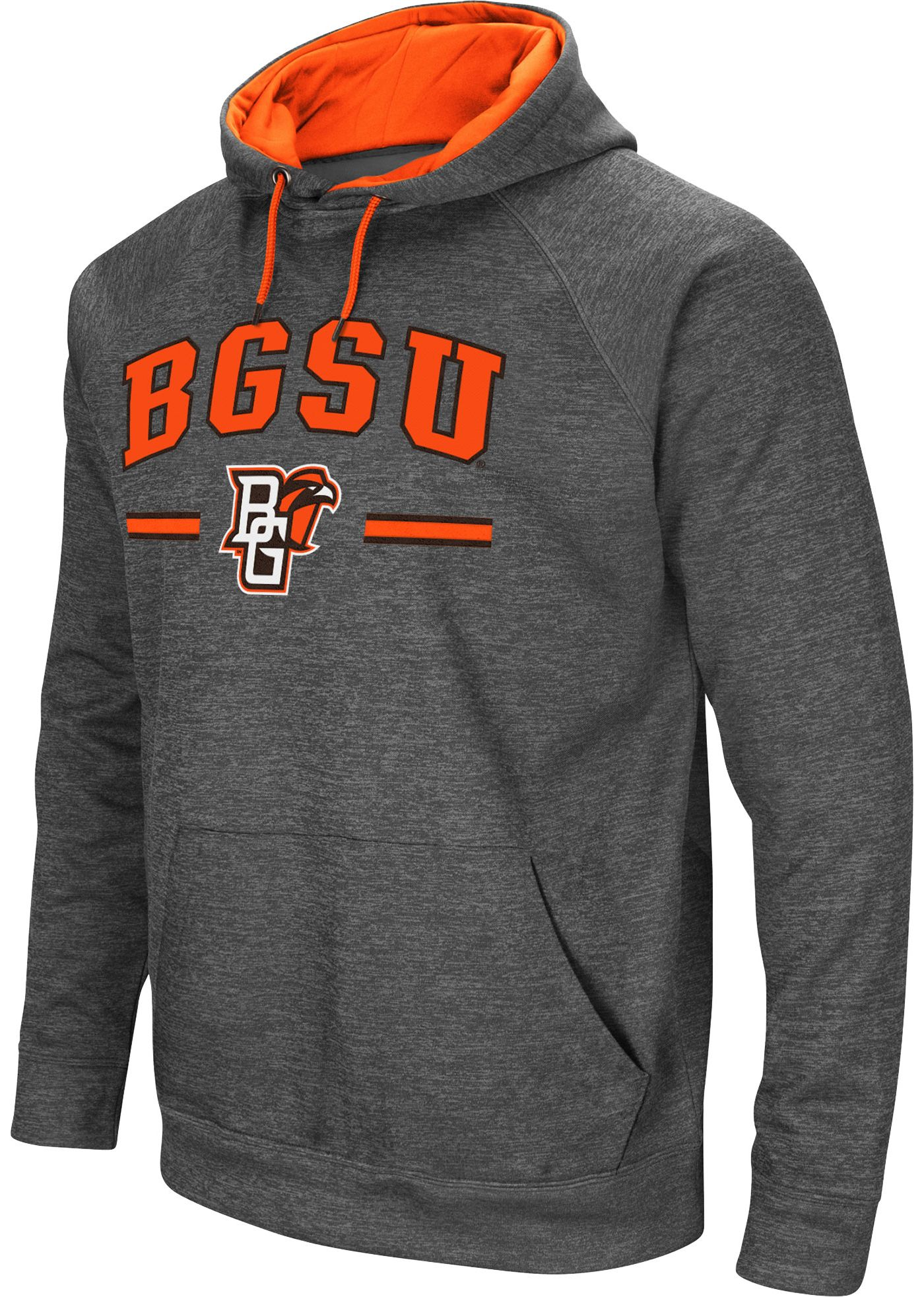 Colosseum Men's Bowling Green Falcons Grey Pullover Hoodie