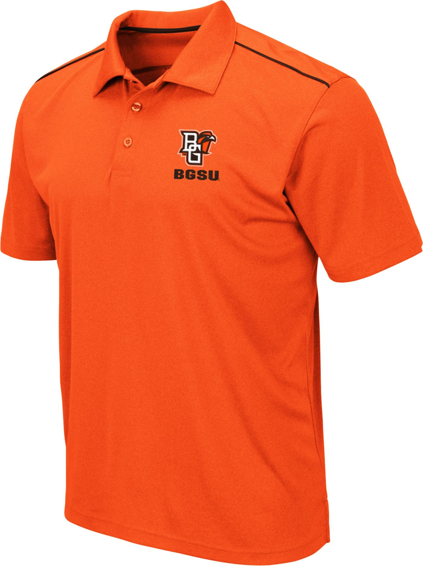 Colosseum Men's Bowling Green Falcons Orange Eagle Polo