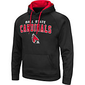 Colosseum Men's Ball State Cardinals Black Pullover Hoodie