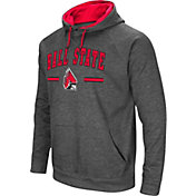Colosseum Men's Ball State Cardinals Grey Pullover Hoodie