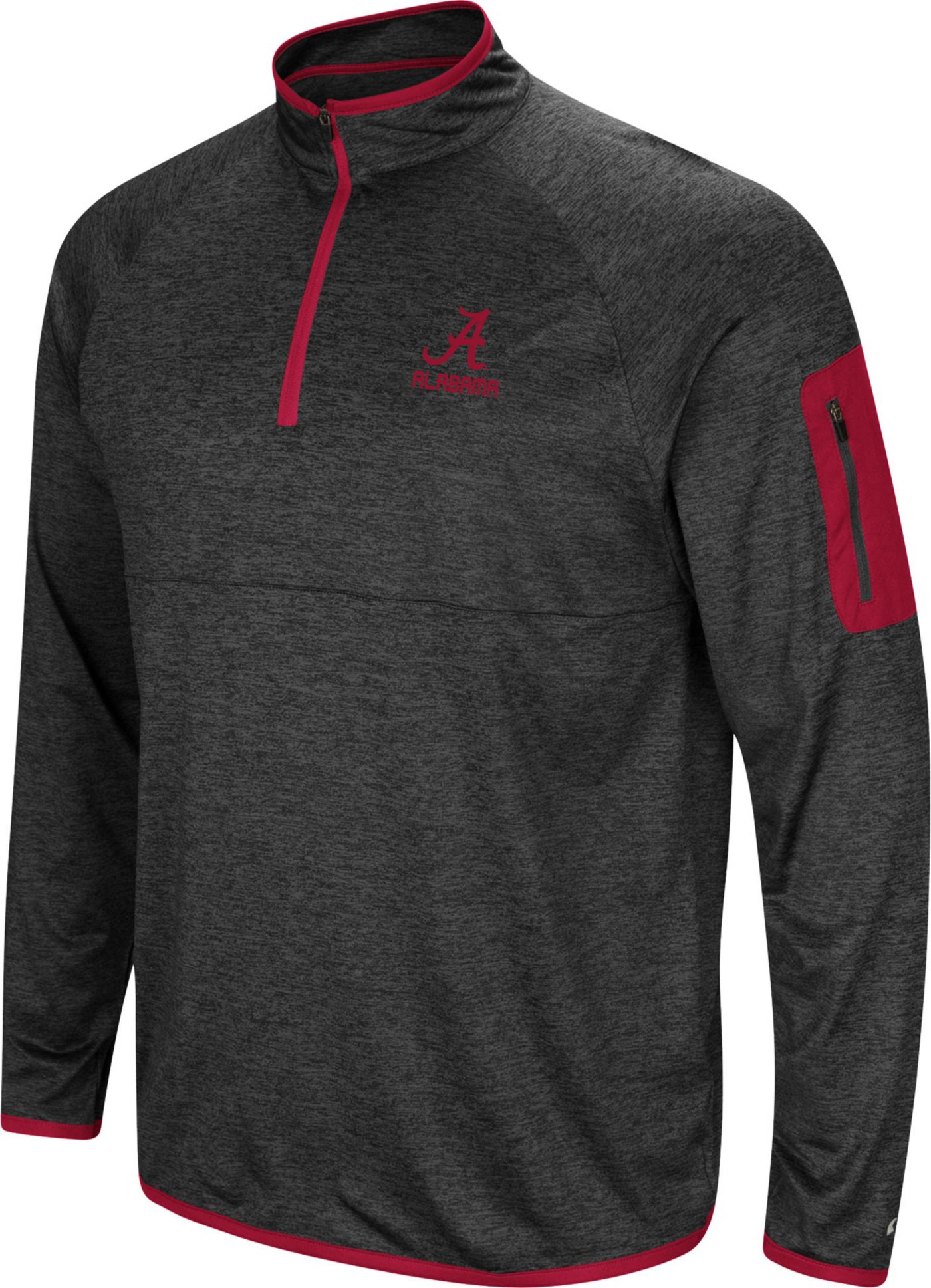 Colosseum Men's Alabama Crimson Tide Indus River Quarter-Zip Black Shirt