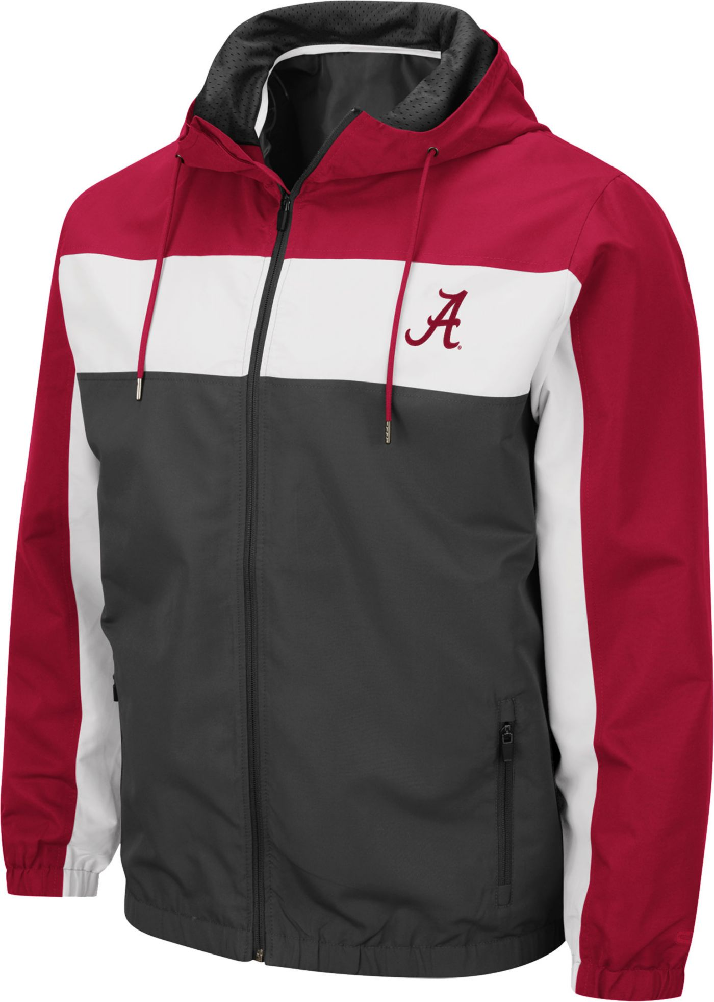 Colosseum Men's Alabama Crimson Tide Grey Brockman Full-Zip Jacket