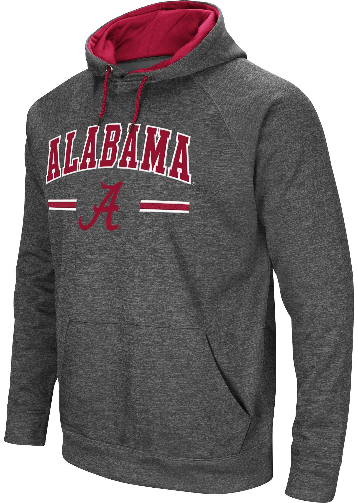 Colosseum Men's Alabama Crimson Tide Grey Pullover Hoodie
