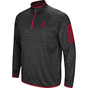 Colosseum Men's Alabama Crimson Tide Grey Indus River Quarter-Zip Shirt