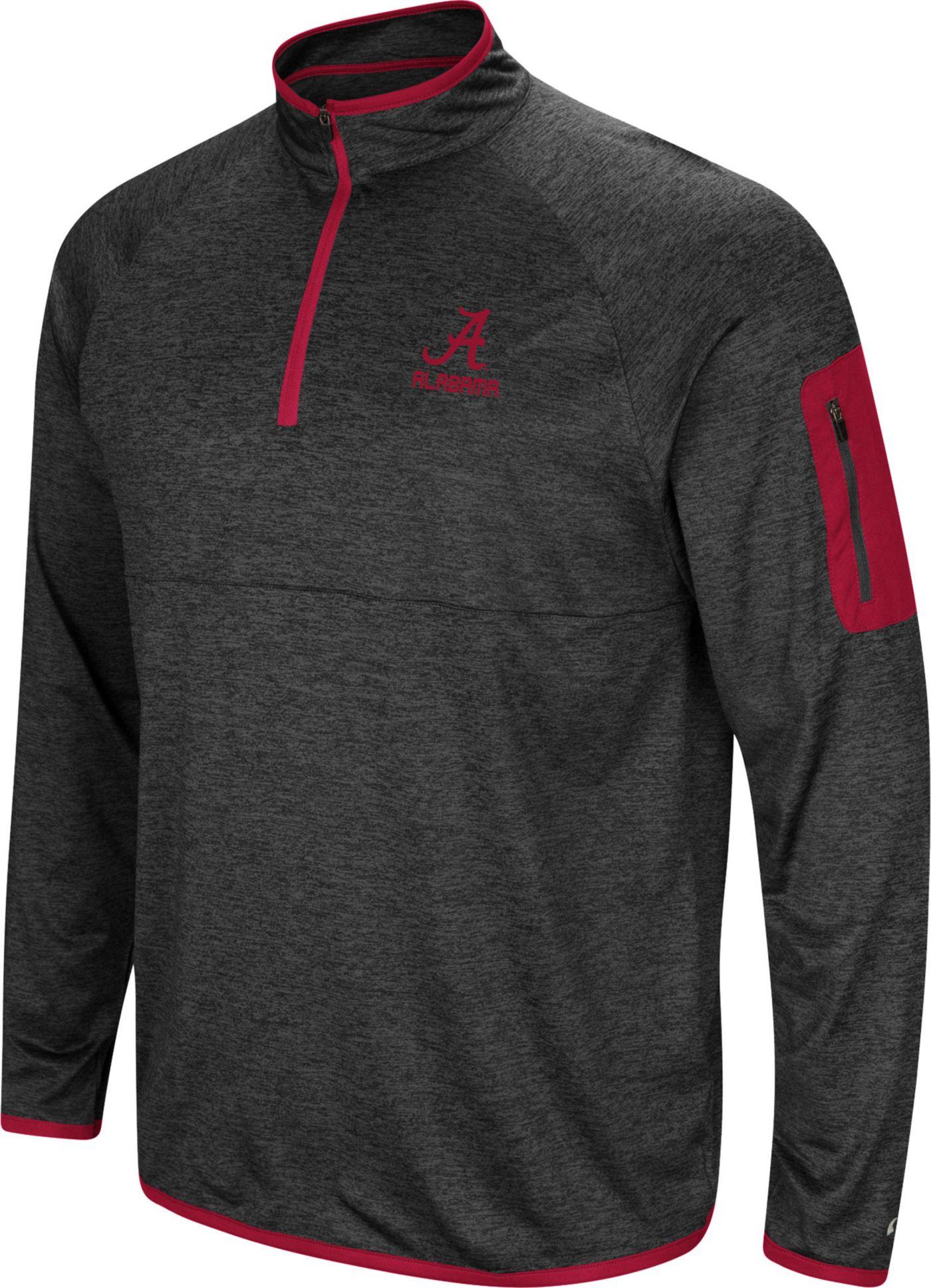 Colosseum Men's Alabama Crimson Tide Grey Indus River Quarter-Zip Shirt