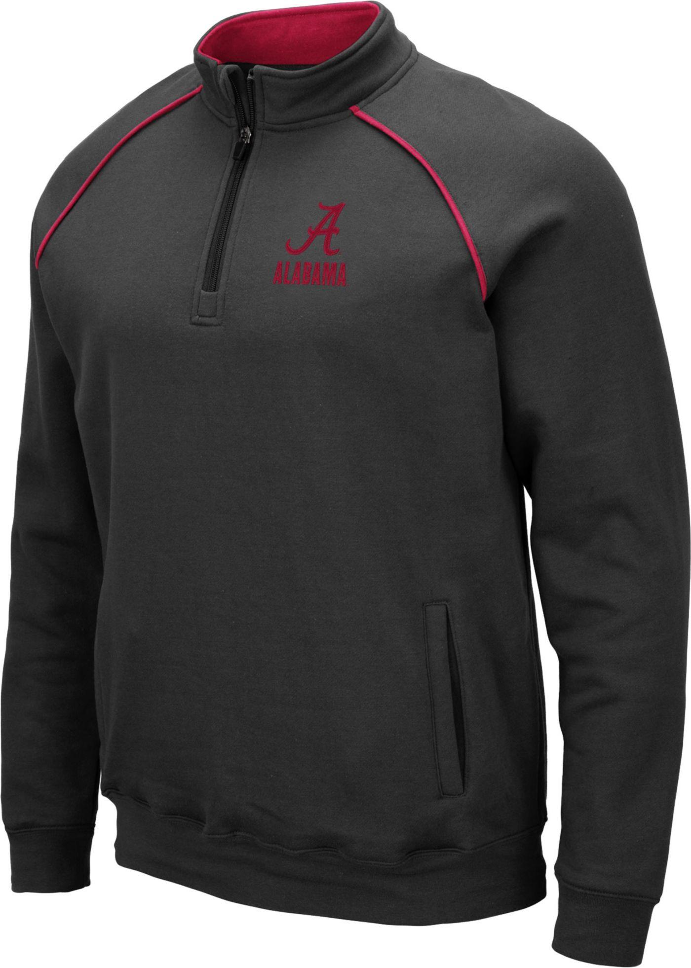 Colosseum Men's Alabama Crimson Tide Grey VF Staghorn Quarter-Zip Shirt