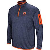 Colosseum Men's Auburn Tigers Blue Indus River Quarter-Zip Shirt
