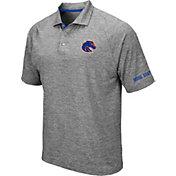Colosseum Men's Boise State Broncos Grey Chip Shot Polo