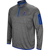 Colosseum Men's Boise State Broncos Grey Indus River Quarter-Zip Shirt