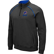 Colosseum Men's Boise State Broncos Grey VF Staghorn Quarter-Zip Shirt