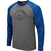 Colosseum Men's Boise State Broncos Grey Rad Tad Raglan Long Sleeve T-Shirt