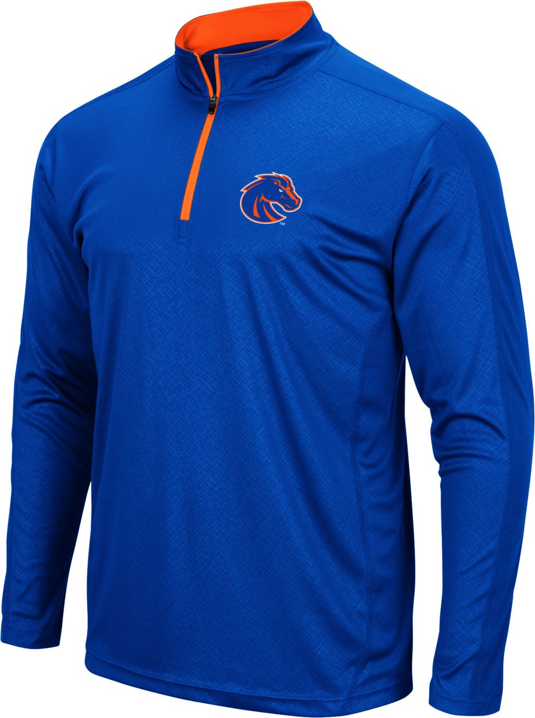 newest 38529 8ad97 Colosseum Men's Boise State Broncos Blue Loggerhead Quarter-Zip Shirt