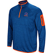 Colosseum Men's Boise State Broncos Blue Indus River Quarter-Zip Shirt
