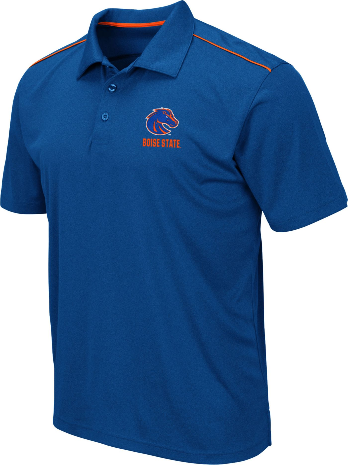 Colosseum Men's Boise State Broncos Blue Eagle Polo