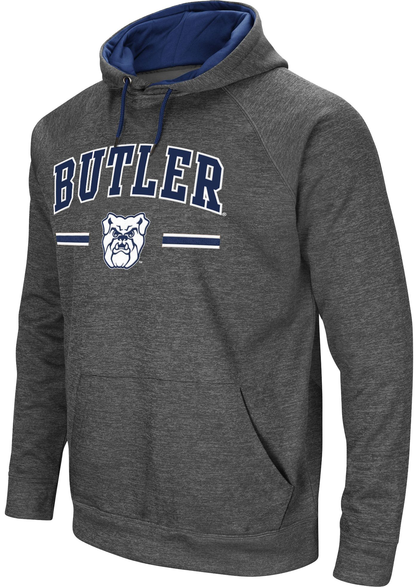 Colosseum Men's Butler Bulldogs Grey Pullover Hoodie