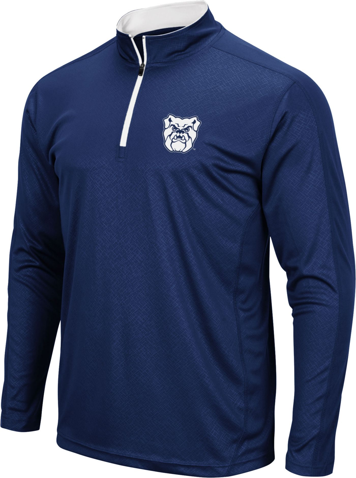 Colosseum Men's Butler Bulldogs Blue Loggerhead Quarter-Zip Shirt