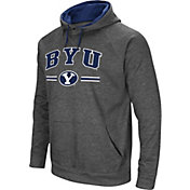 Colosseum Men's BYU Cougars Grey Pullover Hoodie
