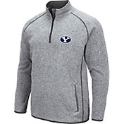 Colosseum Men's BYU Cougars Grey Amur Quarter-Zip Shirt