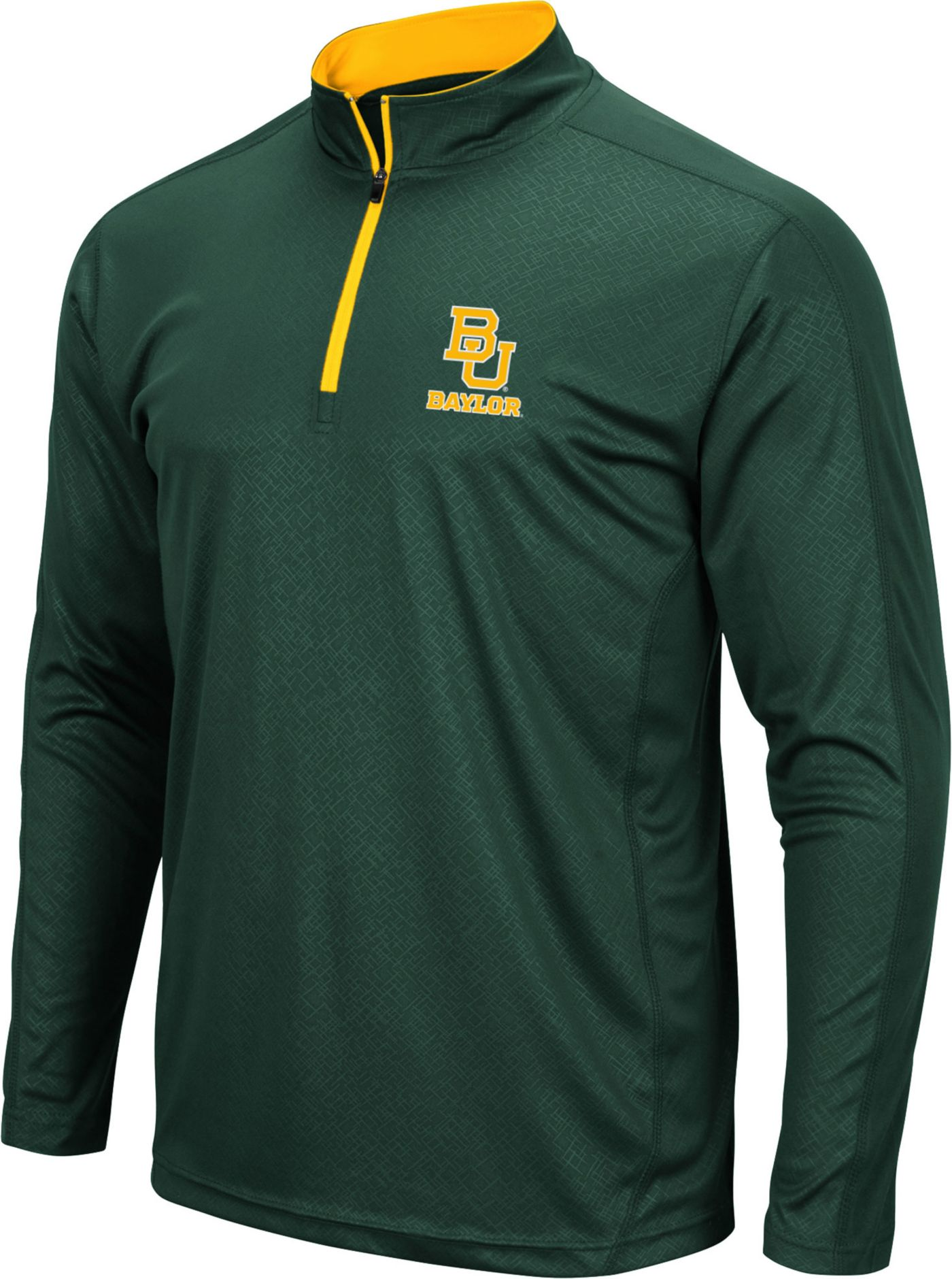 Colosseum Men's Baylor Bears Green Loggerhead Quarter-Zip Shirt