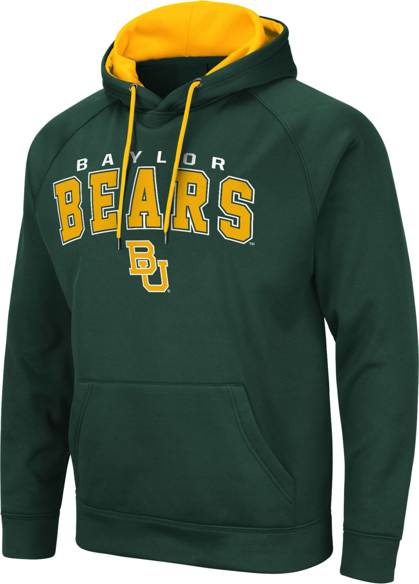 Colosseum Men's Baylor Bears Green Pullover Hoodie