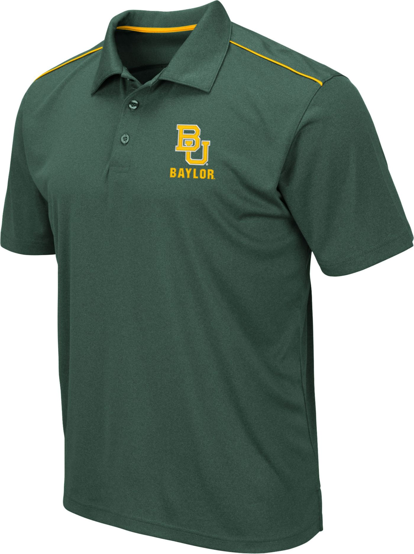 Colosseum Men's Baylor Bears Green Eagle Polo