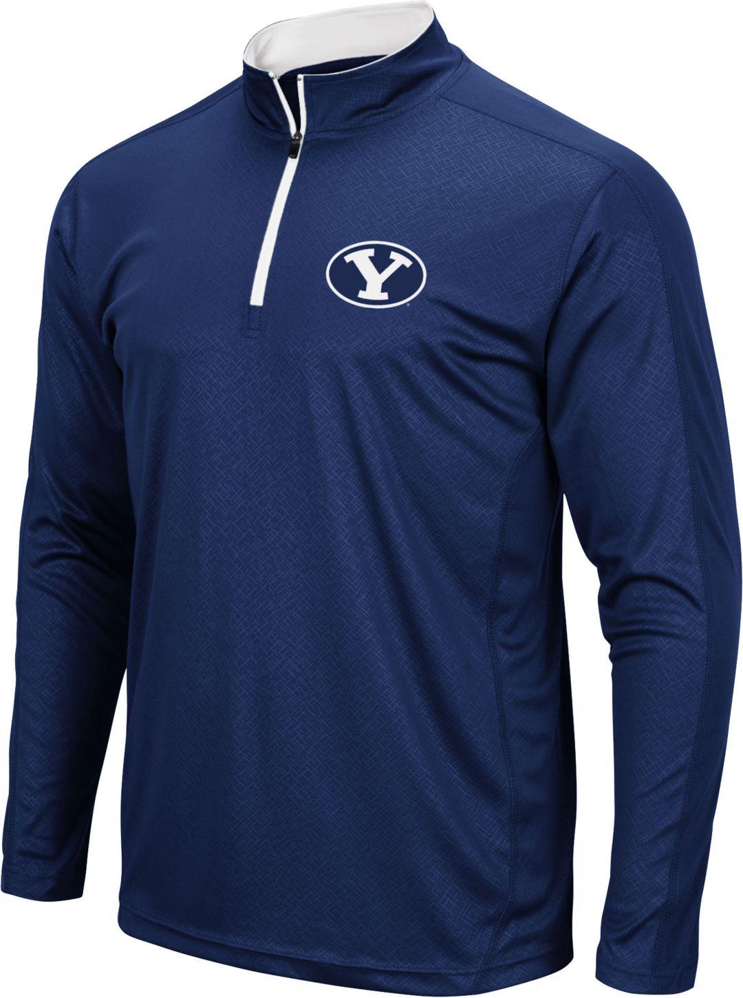 pretty nice bb666 d0093 Colosseum Men's BYU Cougars Blue Loggerhead Quarter-Zip Shirt