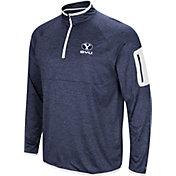 Colosseum Men's BYU Cougars Blue Indus River Quarter-Zip Shirt