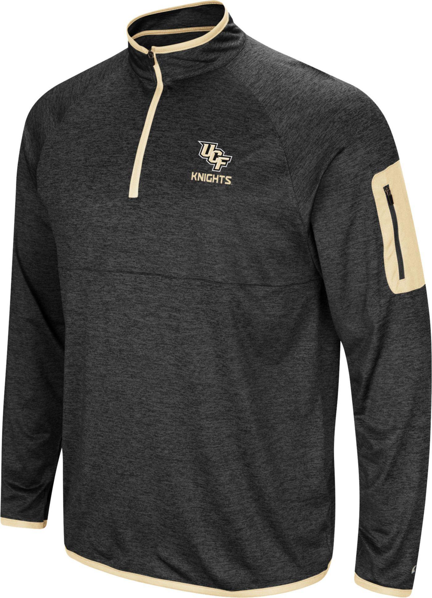 Colosseum Men's UCF Knights Indus River Quarter-Zip Black Shirt