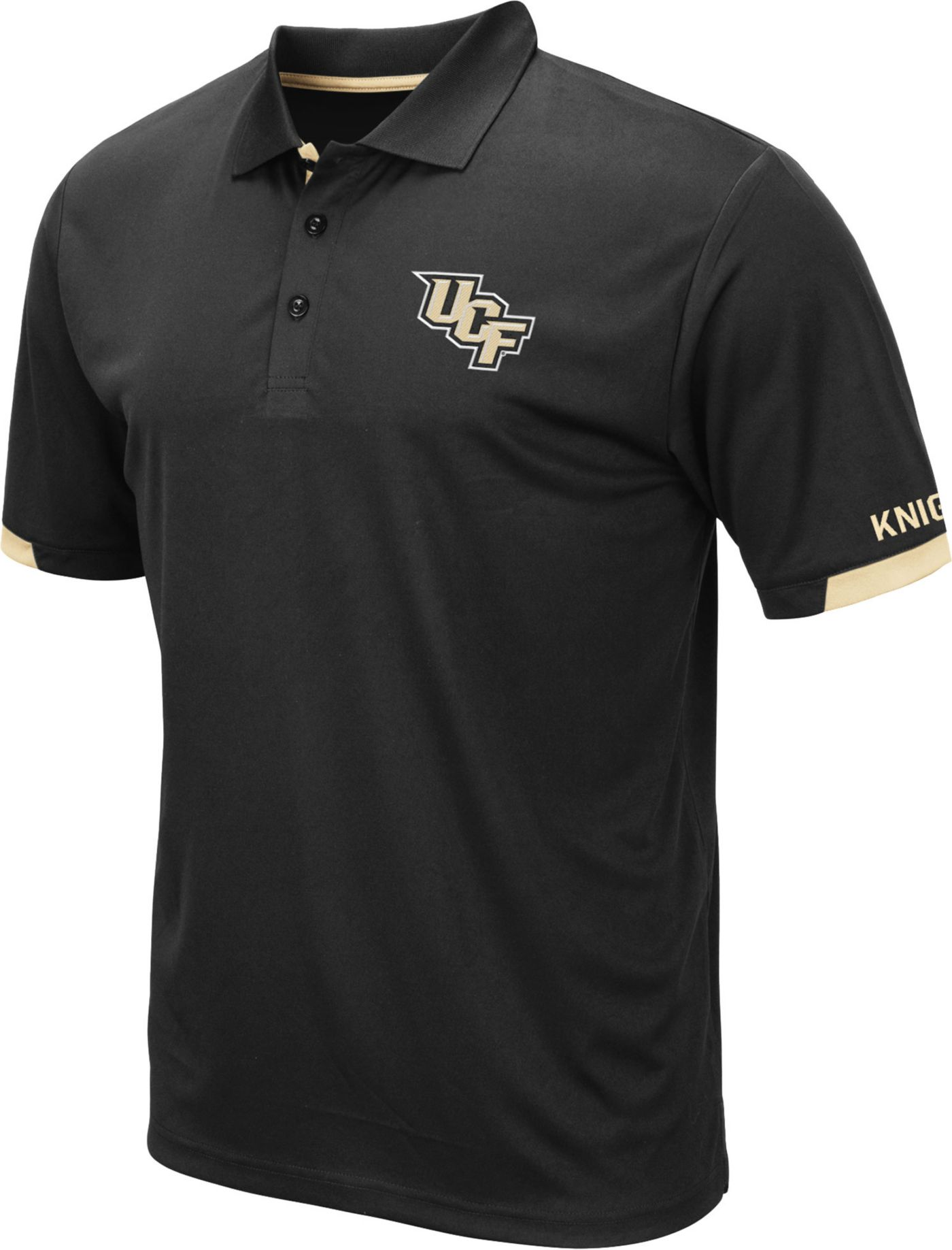 Colosseum Men's UCF Knights Fairway Black Polo