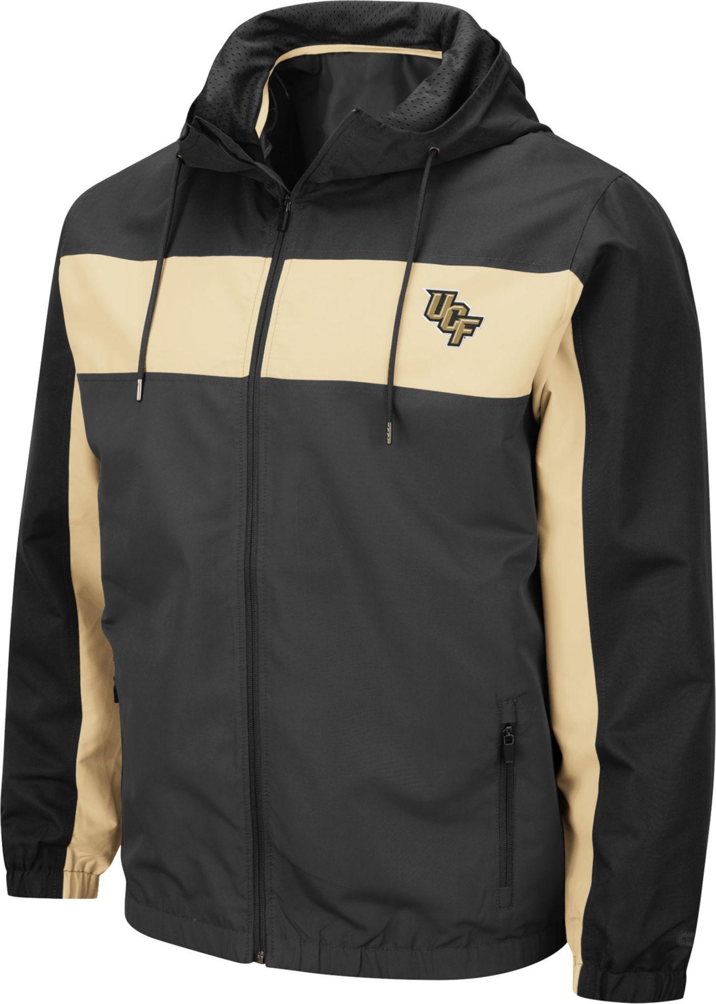 Colosseum Men's UCF Knights Grey Brockman Full-Zip Jacket