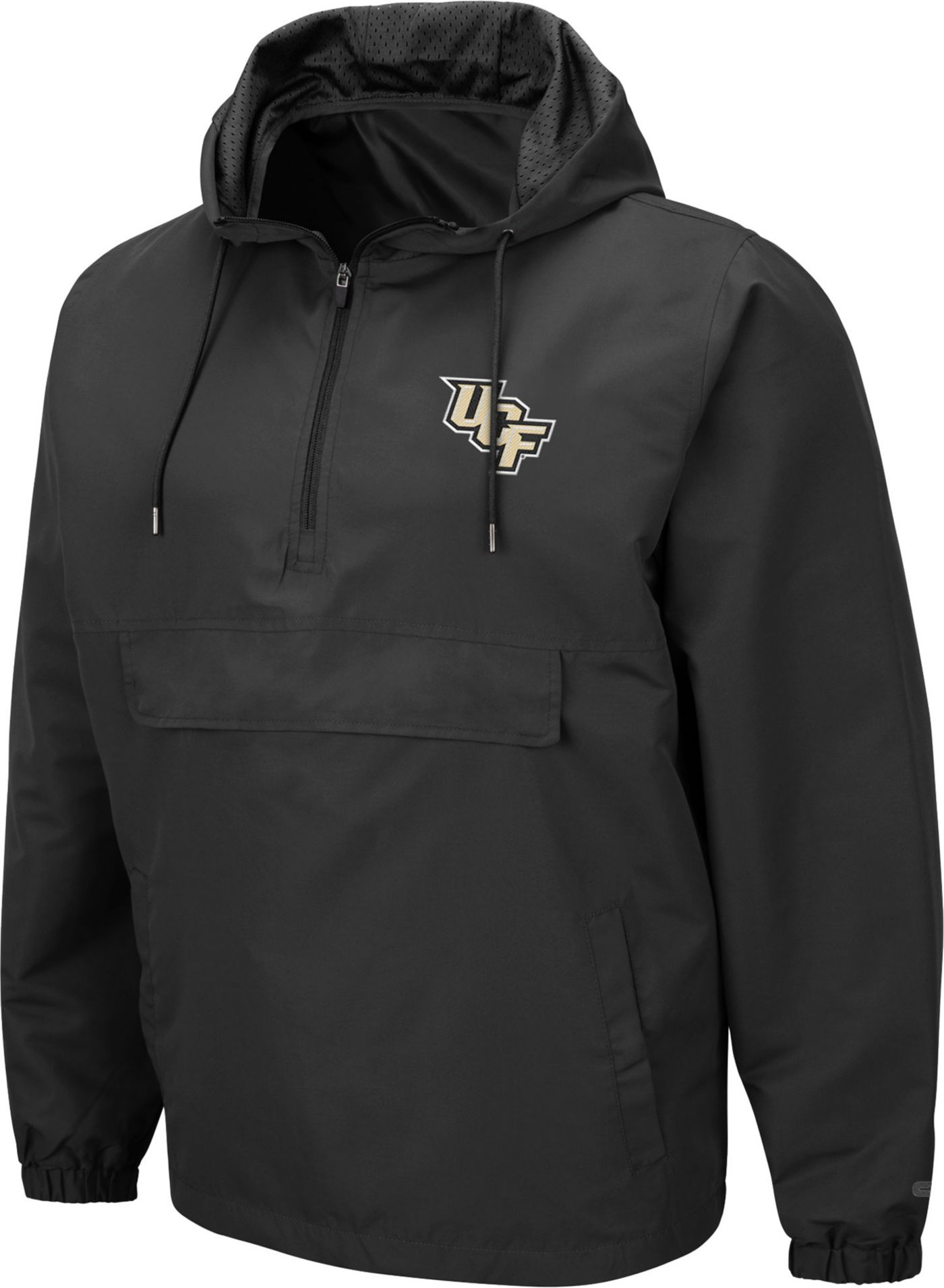 Colosseum Men's UCF Knights Grey Dolph Half-Zip Jacket