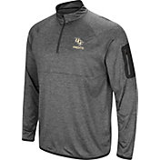 Colosseum Men's UCF Knights Grey Indus River Quarter-Zip Shirt