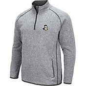 Colosseum Men's UCF Knights Grey Amur Quarter-Zip Shirt