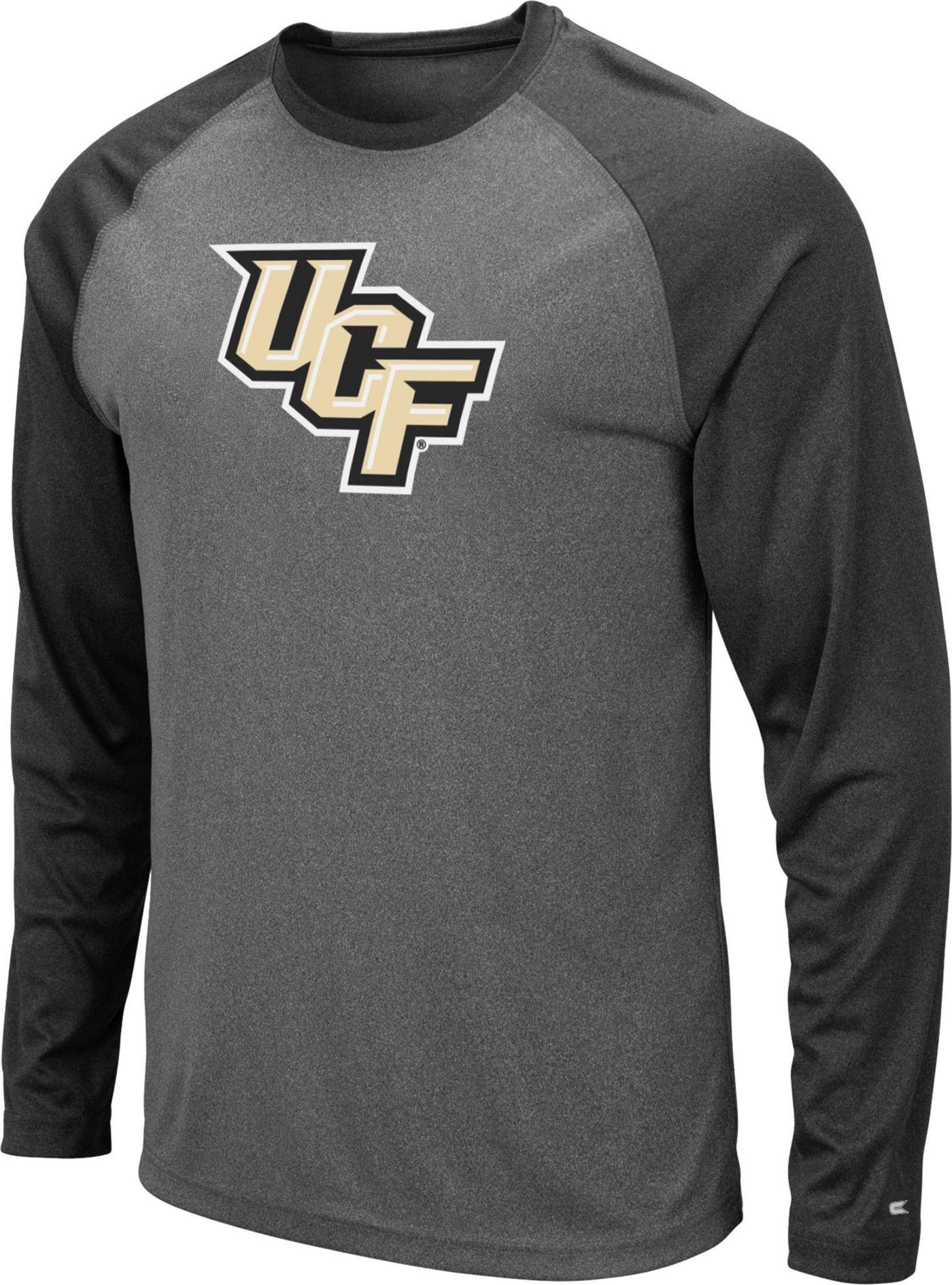 Colosseum Men's UCF Knights Grey Rad Tad Raglan Long Sleeve T-Shirt