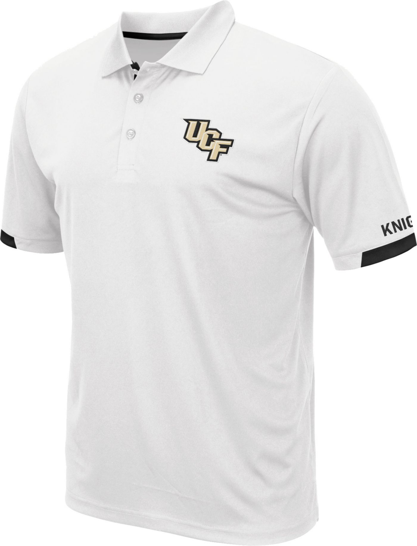 Colosseum Men's UCF Knights Fairway White Polo