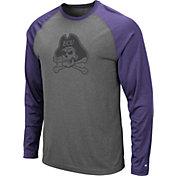Colosseum Men's East Carolina Pirates Grey Rad Tad Raglan Long Sleeve T-Shirt