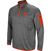 Colosseum Men's Clemson Tigers Grey Indus River Quarter-Zip Shirt