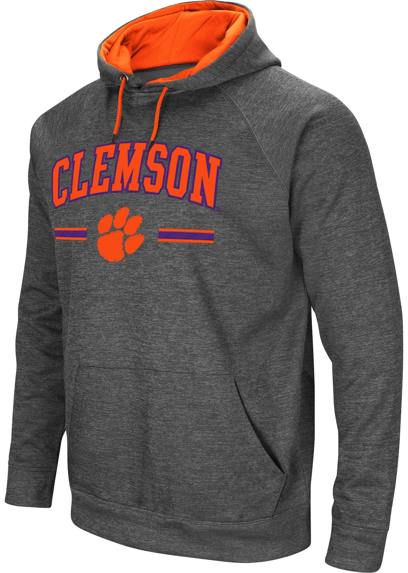 Colosseum Men's Clemson Tigers Grey Pullover Hoodie