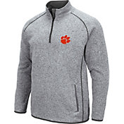 Colosseum Men's Clemson Tigers Grey Amur Quarter-Zip Shirt