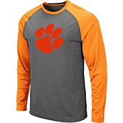 Colosseum Men's Clemson Tigers Grey Rad Tad Raglan Long Sleeve T-Shirt