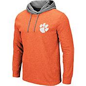 Colosseum Men's Clemson Tigers Orange Milhouse Long Sleeve Hooded T-Shirt