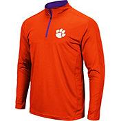 Colosseum Men's Clemson Tigers Orange Loggerhead Quarter-Zip Shirt
