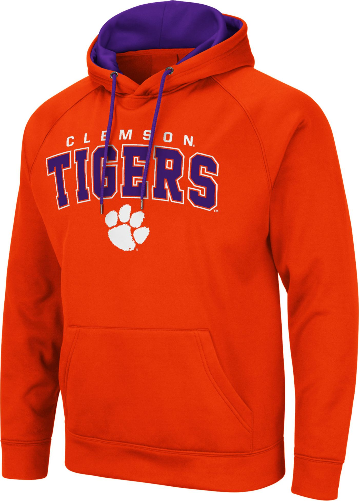 Colosseum Men's Clemson Tigers Orange Pullover Hoodie