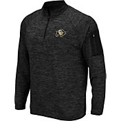 Colosseum Men's Colorado Buffaloes Quarter-Zip Black Shirt