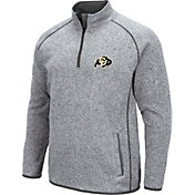 Colosseum Men's Colorado Buffaloes Grey Amur Quarter-Zip Shirt