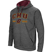 Colosseum Men's Central Michigan Chippewas Grey Pullover Hoodie