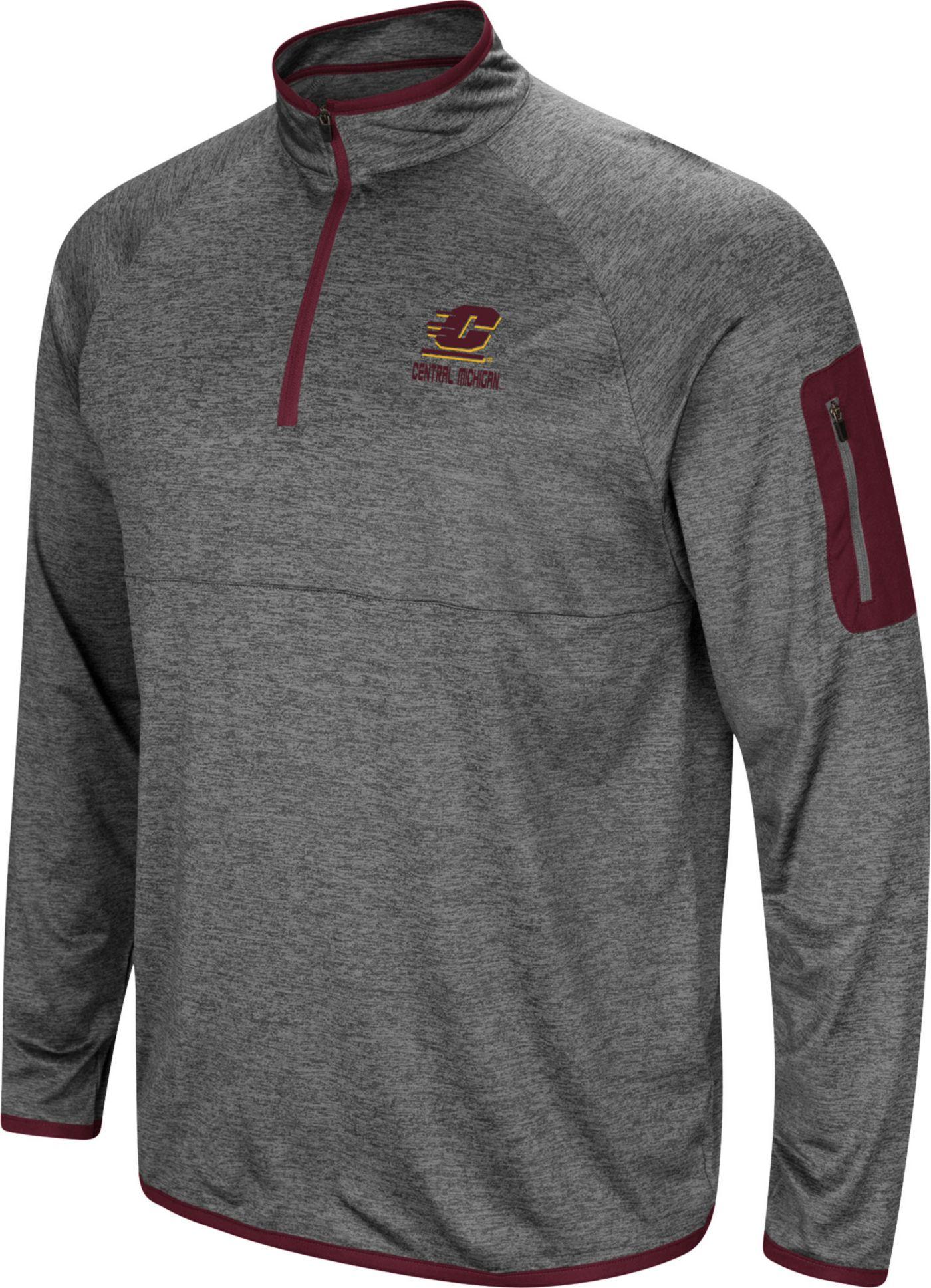 Colosseum Men's Central Michigan Chippewas Grey Indus River Quarter-Zip Shirt
